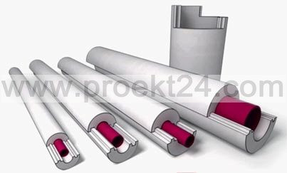Пенопластовая скорлупа Ø219/30 утеплитель для труб (тип Б)