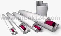 Пенопластовая скорлупа Ø21/80 утеплитель для труб (тип А)