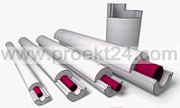 Пенопластовая скорлупа Ø27/20 утеплитель для труб (тип Б)