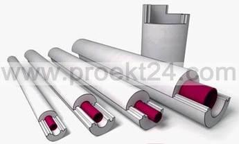 Пенопластовая скорлупа Ø21/50 утеплитель для труб (тип А)
