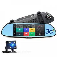 Видеорегистратор зеркало автомобильный D35 / K35 регистратор с камерой заднего вида 7 дюймов экран сенсорный
