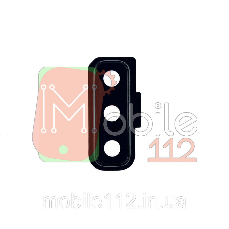 Стекло камеры с рамкой Samsung Galaxy A7 2018 A750F A750FN черное