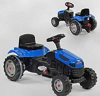 Детский трактор на педалях Pilsan (синий цвет)