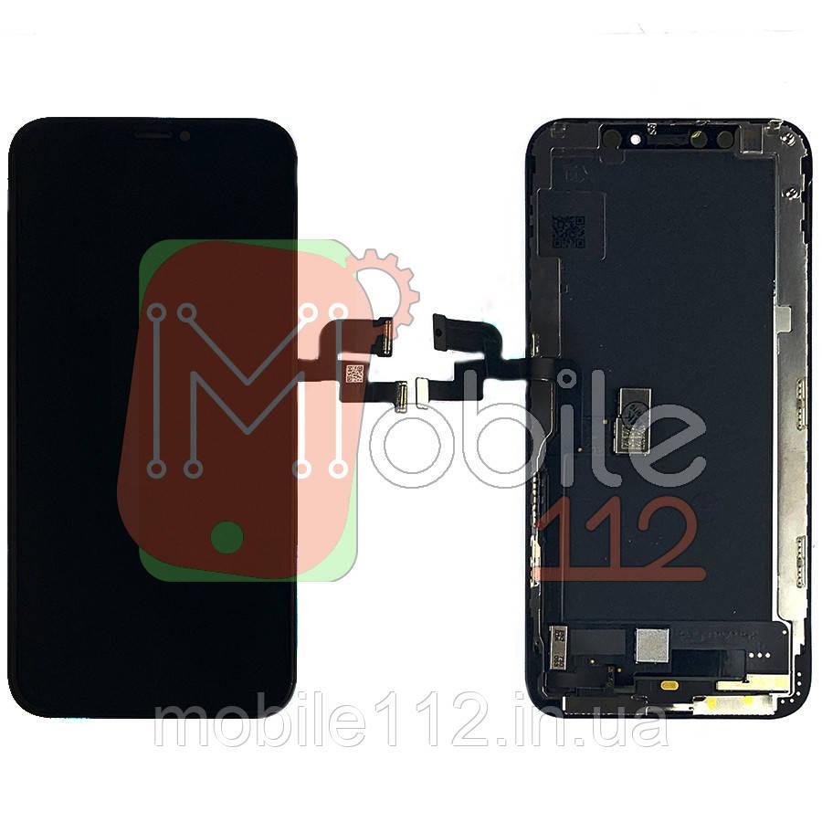 Экран (дисплей) Apple iPhone XS A1920 A2097 A2098 A2100 + тачскрин черный OLED GX SOFT