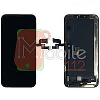 Экран (дисплей) Apple iPhone XS A1920 A2097 A2098 A2100 + тачскрин черный OLED GX HARD