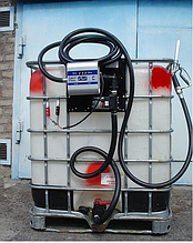 Мобильный заправочный модуль с насосом для дизельного топлива, 640 литров, 12 вольт
