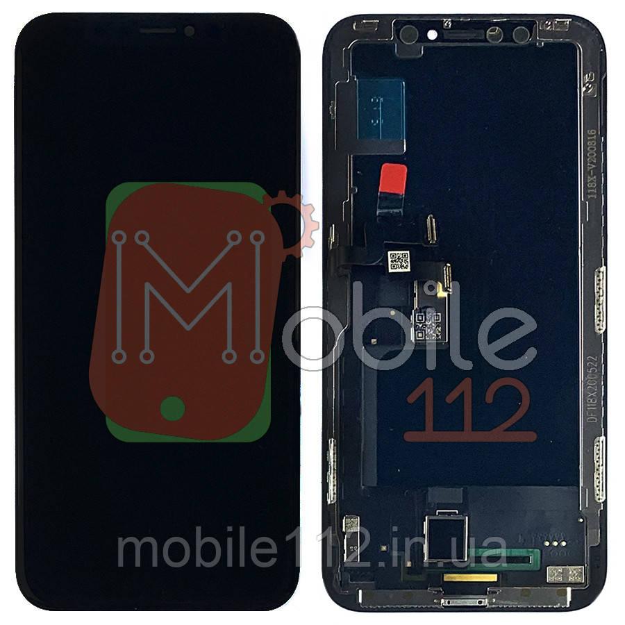 Экран (дисплей) Apple iPhone X A1901 + тачскрин черный OLED HEX