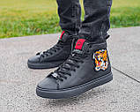 Мужские зимние ботинки Gucci, мужские кроссовки гуччи, чоловічі зимові черевики Gucci, чоловічі кросівки гуччі, фото 3