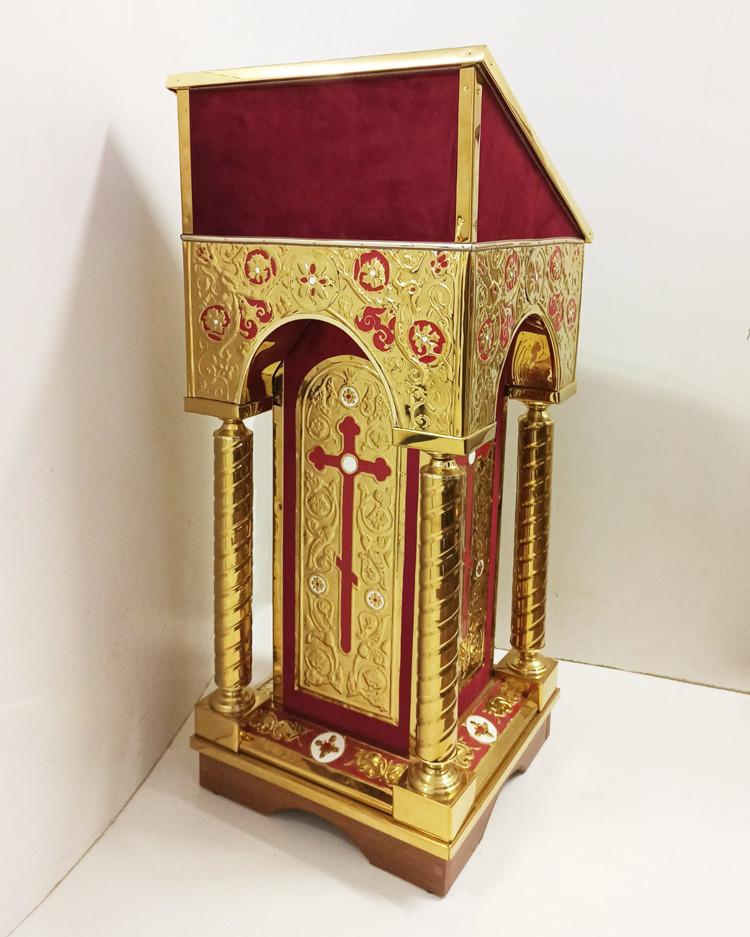 Боковий вівтар з карбуванням на тканини і розфарбуванням 50х50см (червоний)