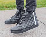 Мужские зимние кроссовки Louis Vuitton, ботинки луи виттон, зимові кросівки Louis Vuitton, черевики луі віттон, фото 3