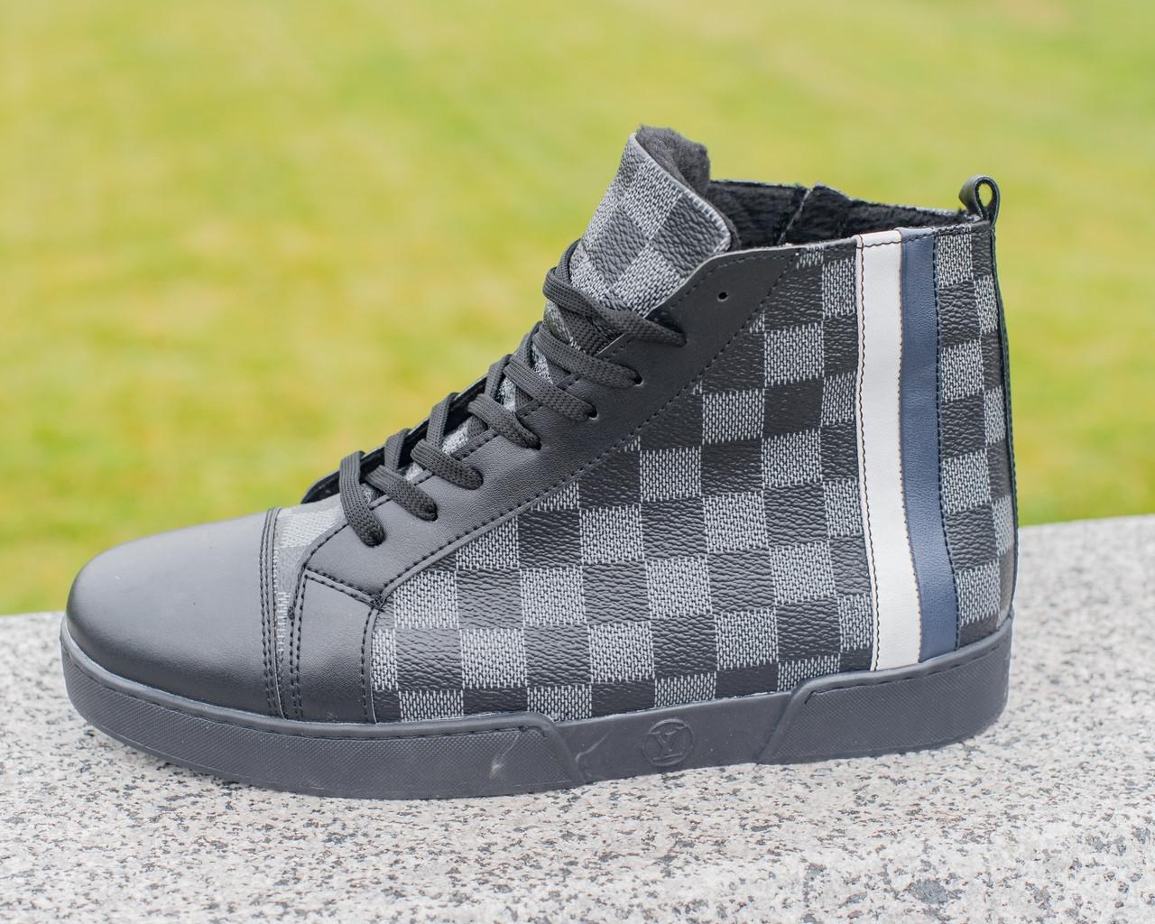 Мужские зимние кроссовки Louis Vuitton, ботинки луи виттон, зимові кросівки Louis Vuitton, черевики луі віттон