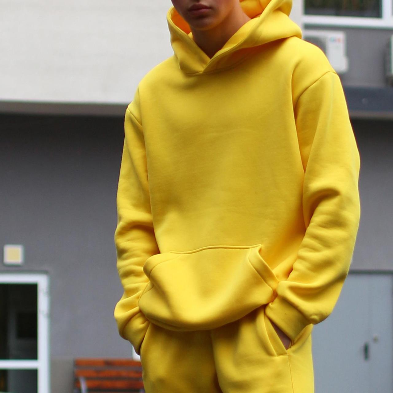 Худи мужское базовое желтое Крейг от бренда ТУР