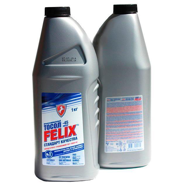 Охлаждающая жидкость Тосол FELIX -45, 1кг