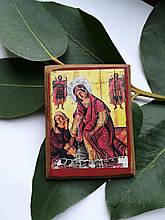 Іконка-магніт Пресвятої Богородиці Кассопитры на дерев'яній основі (велика)