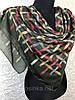Зеленый хлопковый платок в переплет Турция
