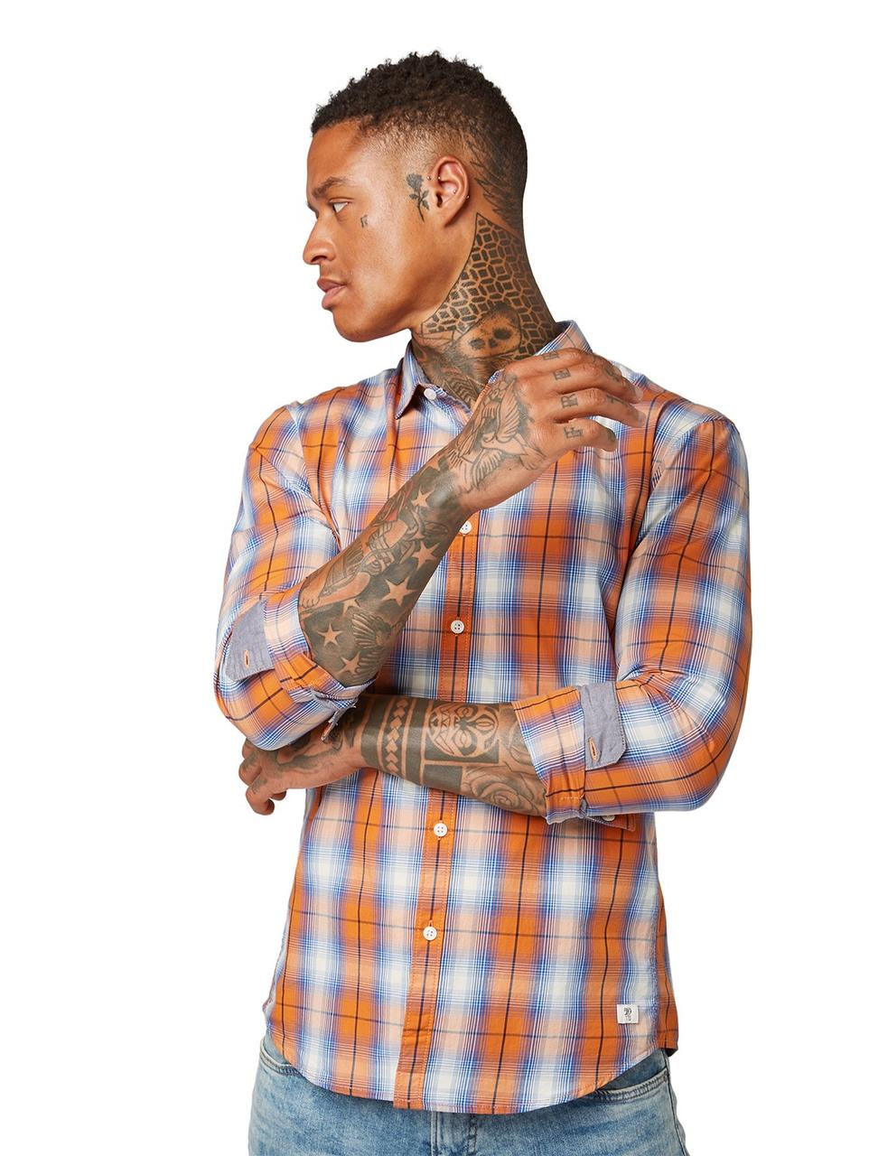 Рубашка Tom Tailor 1010136 M Оранжевый