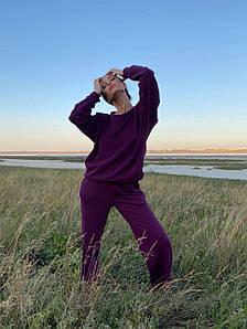 """Костюм женский спортивный трикотажный """"с плечами"""" AniTi 586, сливовый"""