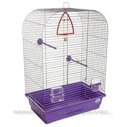 Клетка Аурика ХРОМ для мелких декоративных птиц ТМ Природа 44х27х64см