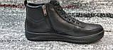 Мужские зимние кожаные кеды-ботинки черного цвета. Размеры 41-45., фото 2