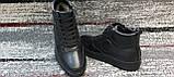Мужские зимние кожаные кеды-ботинки черного цвета. Размеры 41-45., фото 5