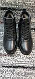 Мужские зимние кожаные кеды-ботинки черного цвета. Размеры 41-45., фото 6