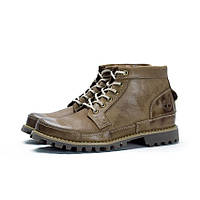 Ботинки мужские Timberland  Earthkeepers Rugged Mid Grey Khaki (тимберленд) хаки