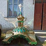 Каплиця 1.35х1.35м в розібраному стані і куполи з кулями і хрестами, фото 9