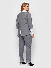Діловий костюм великого розміру світло-сірий, фото 2