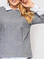 Діловий костюм великого розміру світло-сірий, фото 3