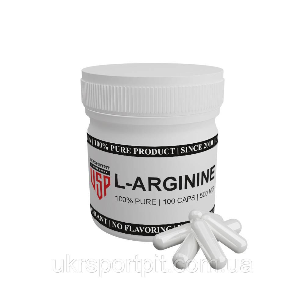 L-Аргинин (L-Arginine) в капсулах 100 капсул по 500 мг.