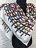 Женский хлопковый платок большого размера в яркую клетку