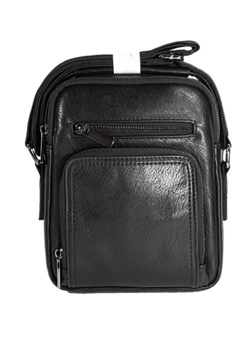 Мужская сумка через плечо Барсетка Мужская сумка Еко-кожа  для документов планшет 23х19