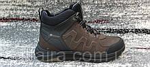 Мужские зимние кожаные кроссовки коричневого цвета. Размеры 40-45.