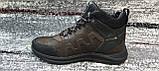 Мужские зимние кожаные кроссовки коричневого цвета. Размеры 40-45., фото 4