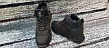 Мужские зимние кожаные кроссовки коричневого цвета. Размеры 40-45., фото 5