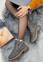 Ботинки женские зимние 8 пар в ящике серого цвета 36-41, фото 3