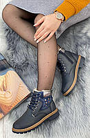 Ботинки женские зимние 8 пар в ящике синего цвета 36-41, фото 3