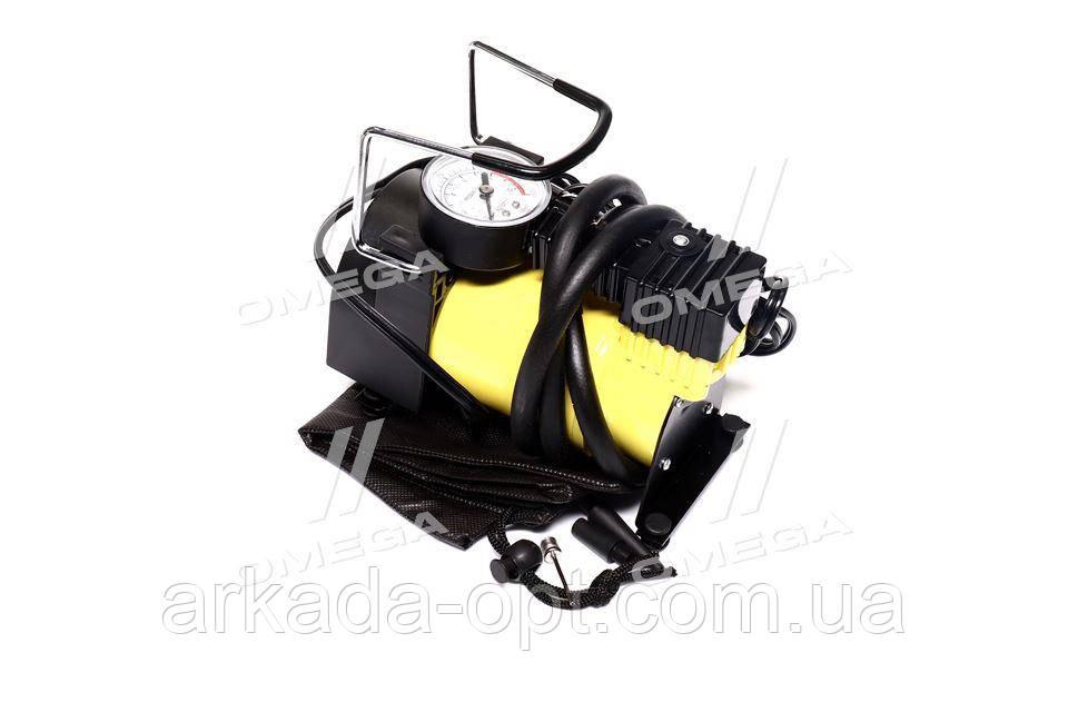 Компрессор автомобильный однопоршневой (35л/мин; 10Атм; 12А) прикуриватель