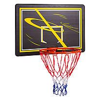 Баскетбольный щит с кольцом и сеткой 80x58 см S009F, фото 1