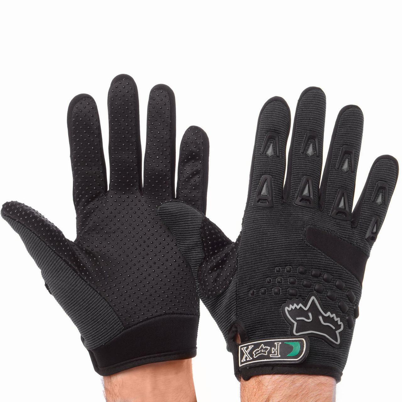 Мотоперчатки текстильные FOX черные BC-4641 (реплика)