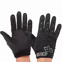 Мотоперчатки текстильные FOX черные BC-4641 (реплика), фото 1