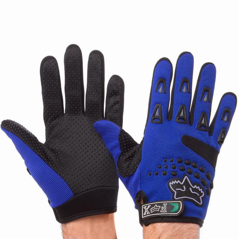 Мотоперчатки текстильные FOX синие BC-4641 (реплика)