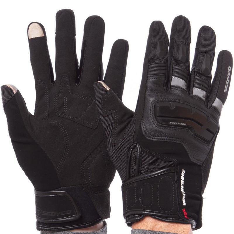 Мотоперчатки комбинированные SCOYCO черные MC17B (реплика)