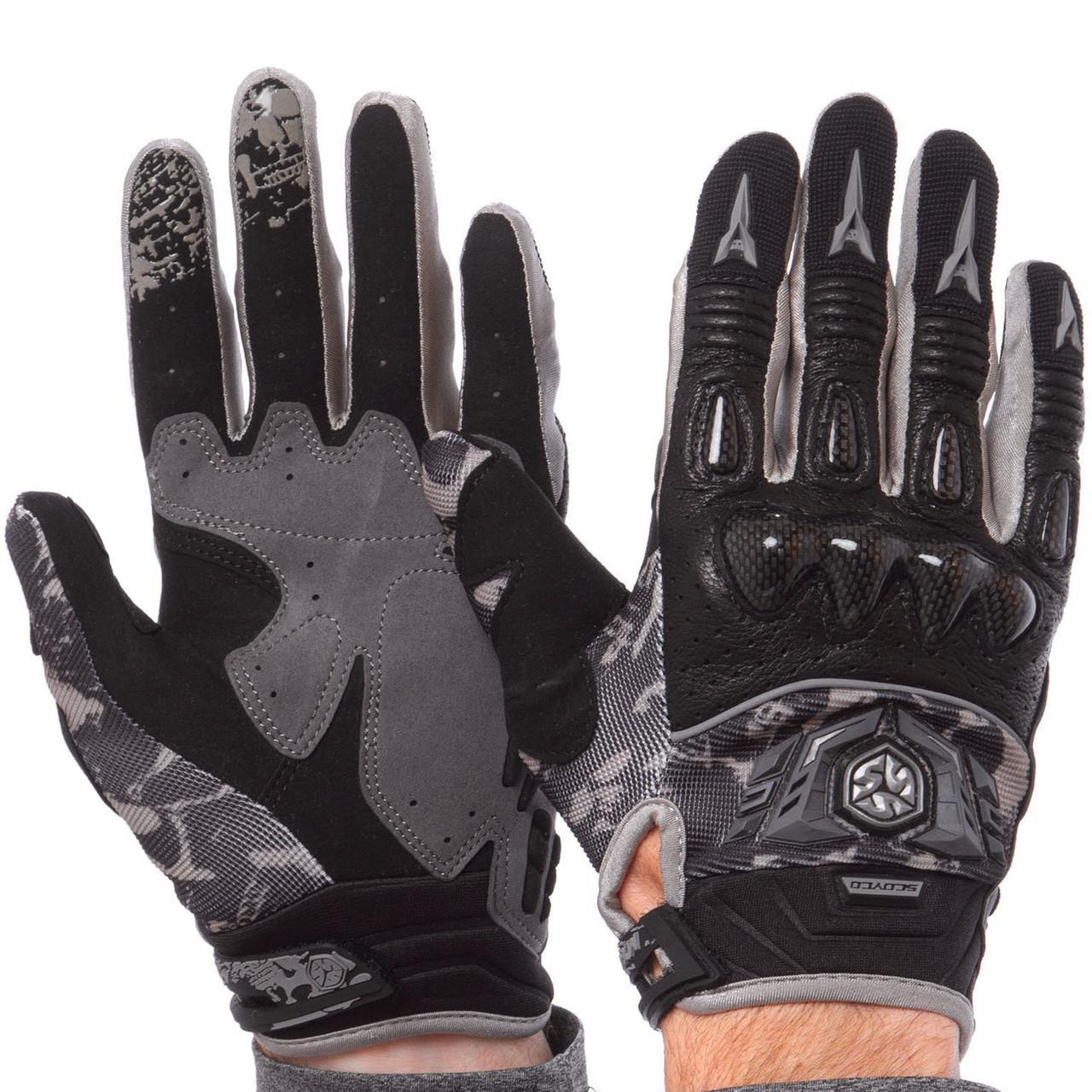 Мотоперчатки комбинированные SCOYCO MX49-BK (реплика)
