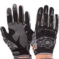 Мотоперчатки комбинированные SCOYCO MX49-BK (реплика), фото 1