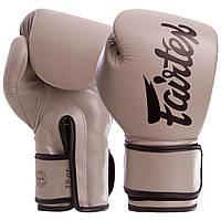 Перчатки для бокса серые FAIRTEX PU BGV14, 12 унций