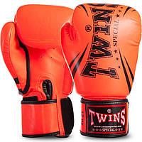 Перчатки боксерские TWINS PU на липучке темно-оранжевые FBGVSD3-TW6, 14 унций