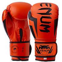 Перчатки VENUM ELITE FLEX на липучке оранжевые BO-5338, 12 унций