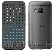 Чехол HTC Dot View M9, серый
