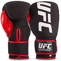 Боксерские перчатки UFC ULTIMATE KOMBAT PU на липучке черно-красные, 12 унций (L)